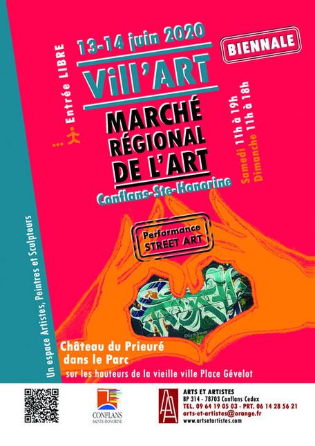 Week-end du 13 et 14 juin 2020- Exposition à la biennale VILL'ART à Conflans