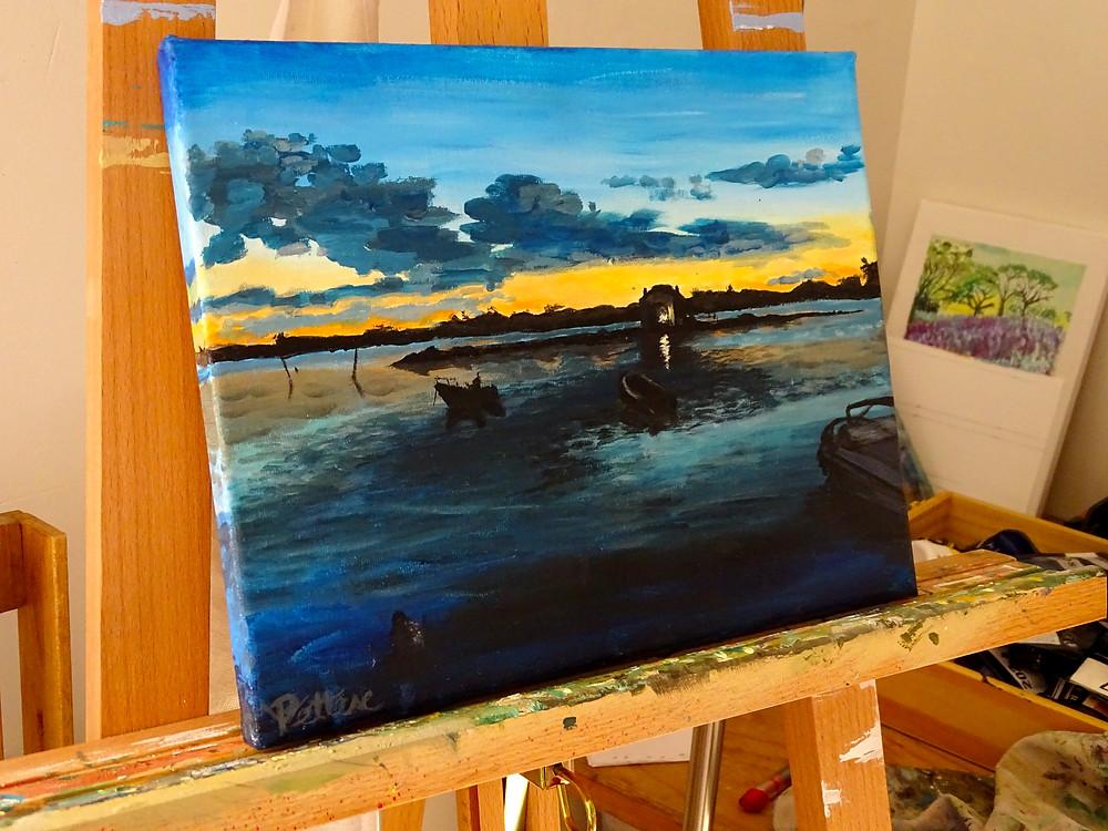 les amis des artistes, peinture paysage