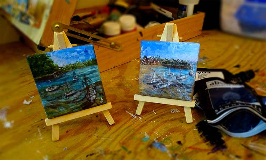 petites peintures marines
