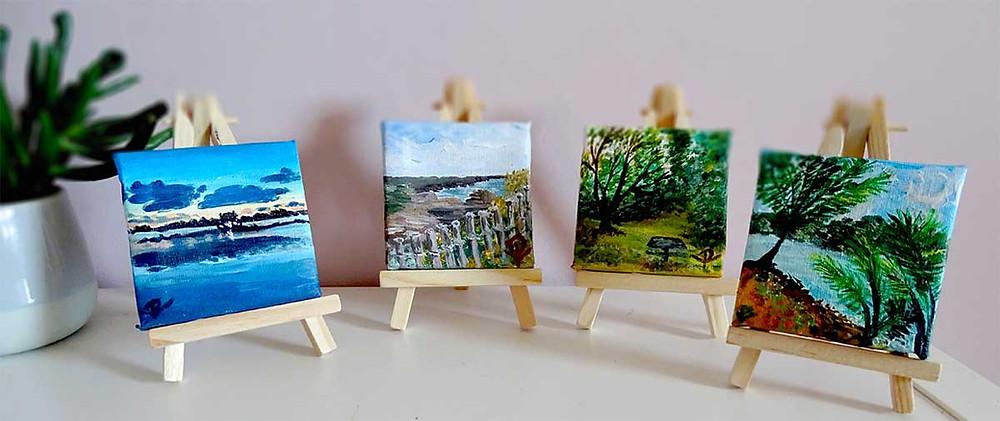 mini peintures paysage