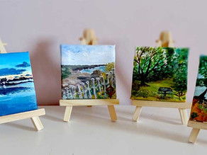 Mini peinture paysage sur toile