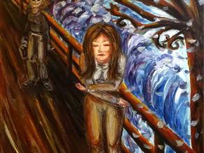 """Peinture contemporaine """"Le rejet avant le cri"""""""