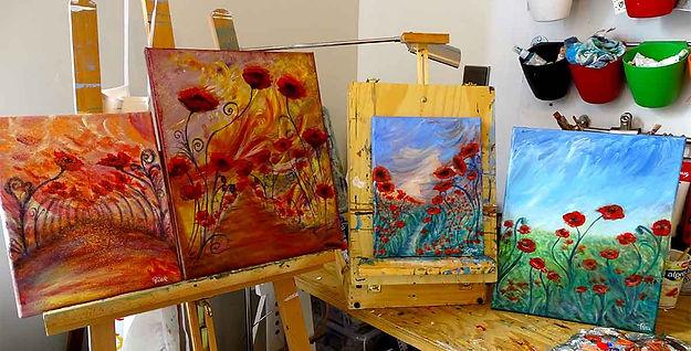 flowers paintings artist