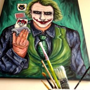 Tableau pop art coloré du Joker