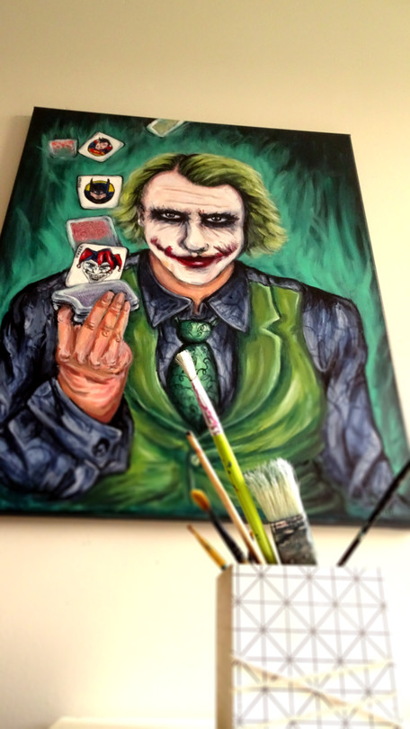 Colorful pop art painting of the Joker