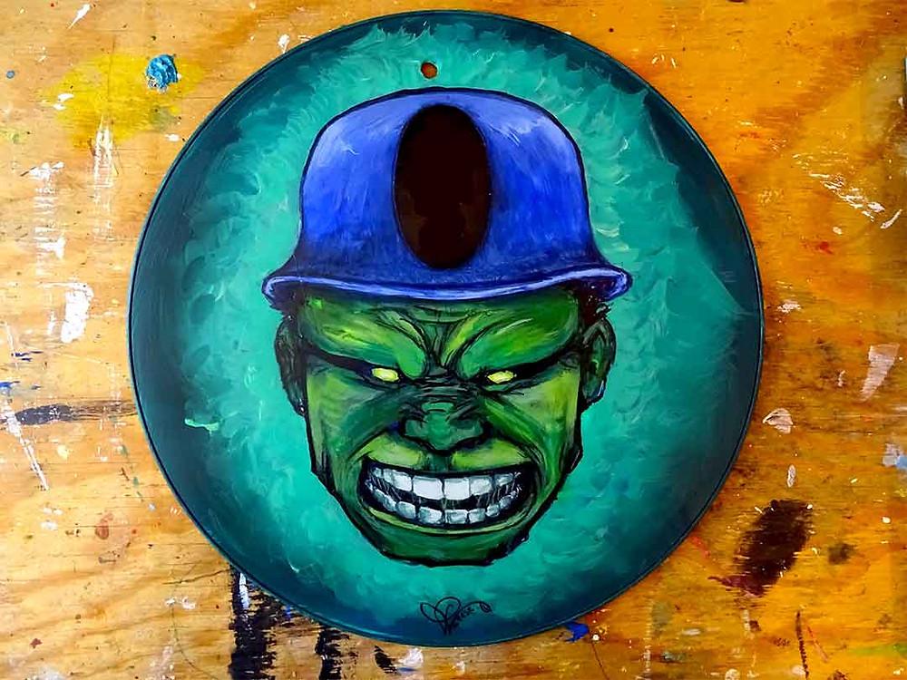 super héros hulk peinture