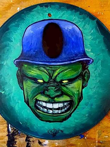 Hulk sur panneau signalétique