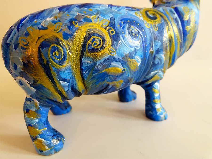 statue art hippopotame