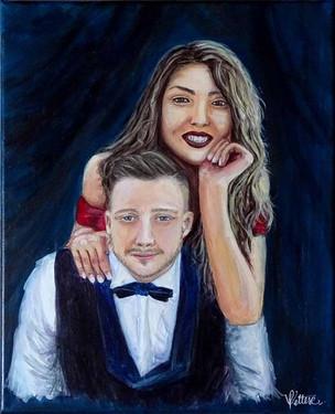 peinture sur mesure couple