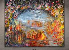 """ABSTRACT MULTICOLOR PAINTING - """"Souffrance"""""""