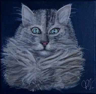 peinture personnalisée chat