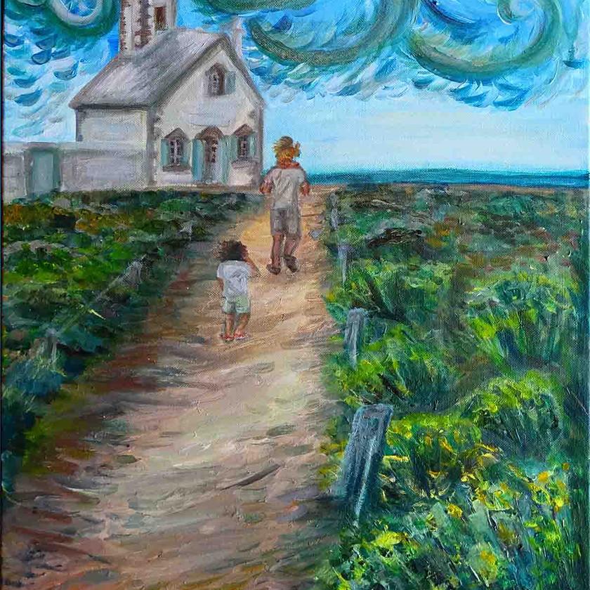 Peinture paysage expressionniste