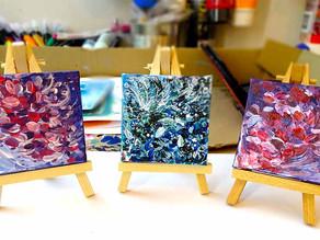 Peintures de fleurs petit format sur toile à petit prix