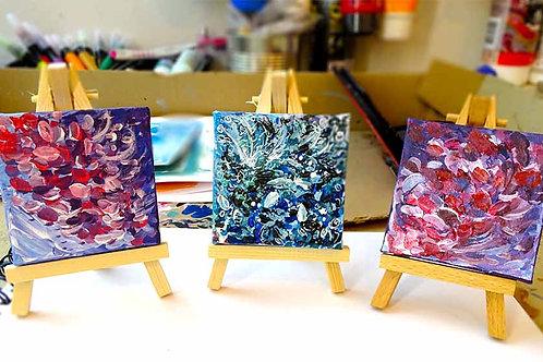mini peinture fleurs