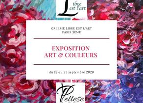 Galerie Libre Est L'Art : Exposition de tableaux abstraits colorés dans Paris