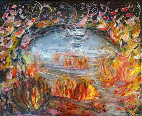 tableau multicolore abstrait