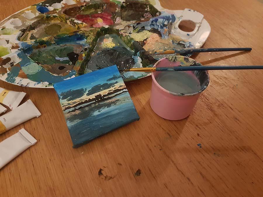small marine painting