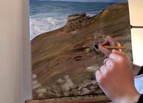 Peindre à la peinture acrylique : paysage marin