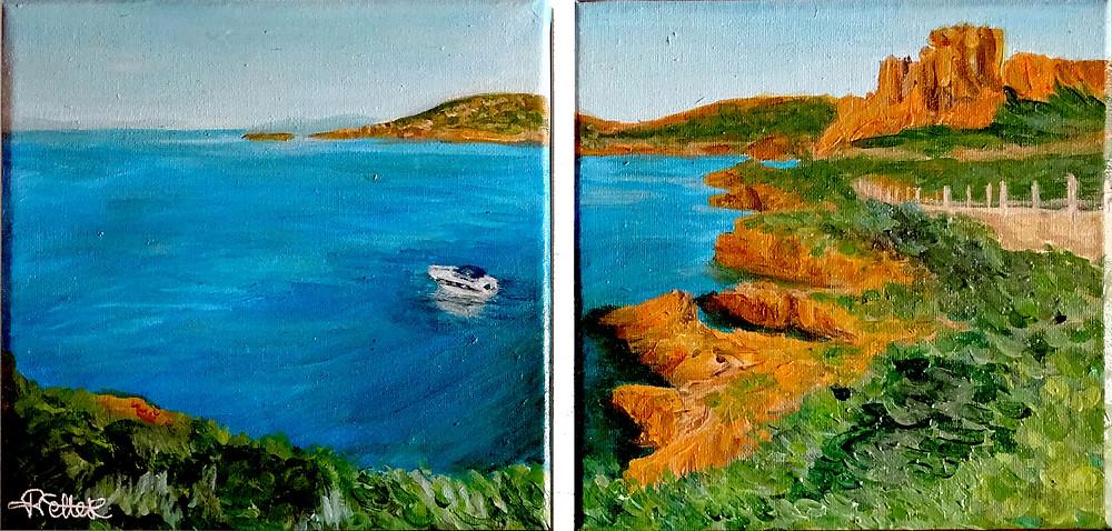 les amis des artistes, peinture paysage mer