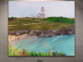 """Un tableau paysage - """"Belle Ile en Mer"""""""