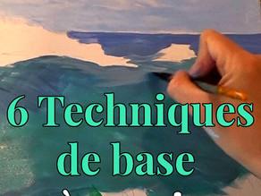 Peinture acrylique : 6 techniques de base à connaître!