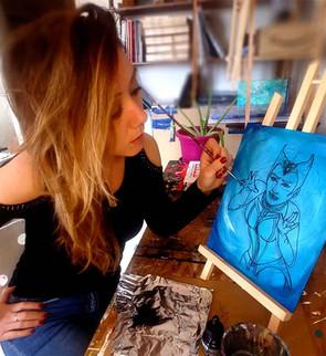 Le début du travail de Wanda Maximoff alias la sorcière rouge