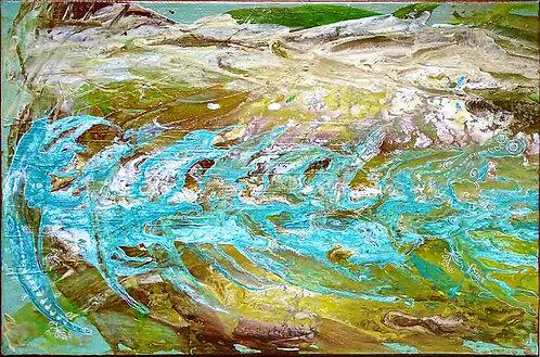 Tableau-abstrait-vert