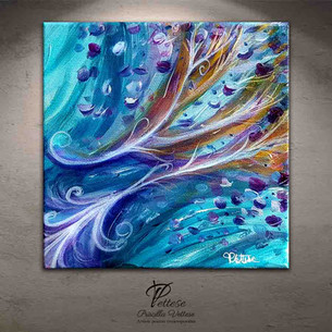 Blue violet abstract painting