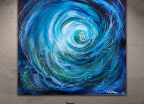 Blue abstract painting for your art collection