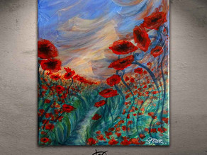 """Painting of flowers - """"Brise crépusculaire"""""""