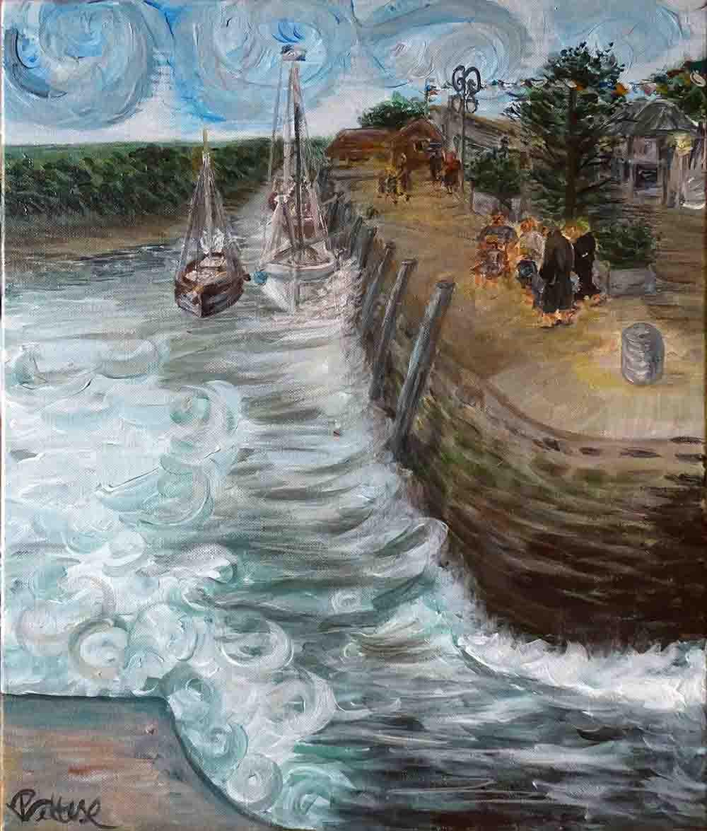 peinture contemporaine bateaux