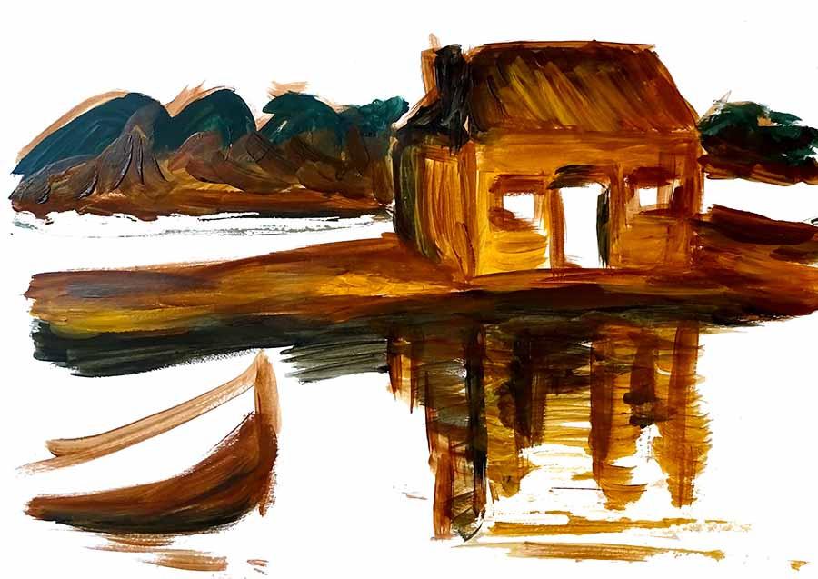peindre eau cours peinture