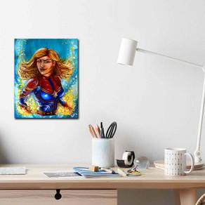 Peinture pop art comics super héros