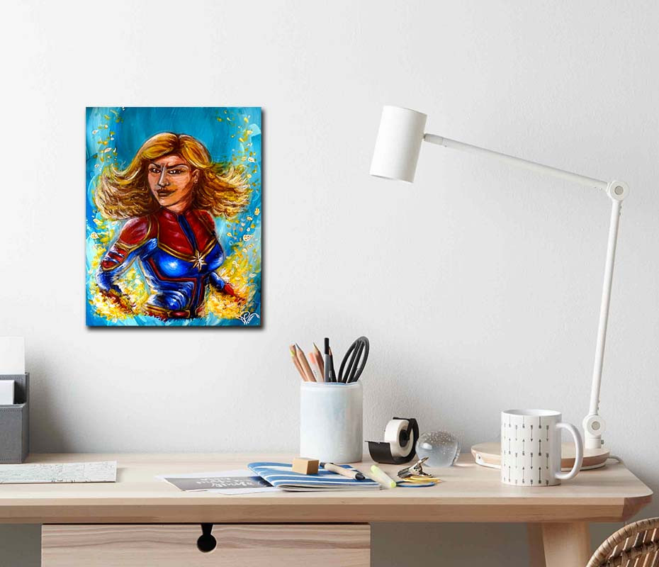 peinture pop art captain comics