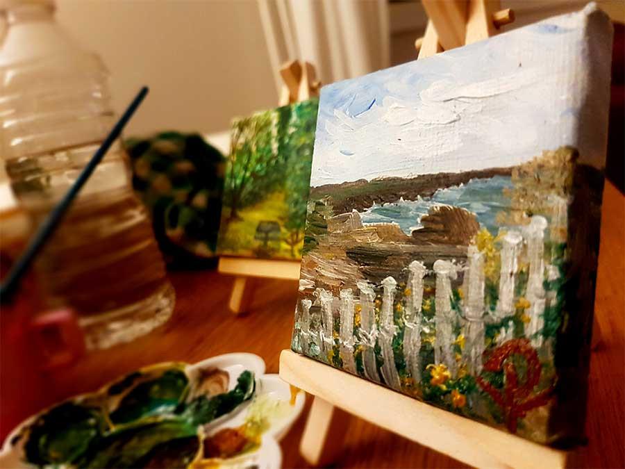 mini peinture paysage acrylique