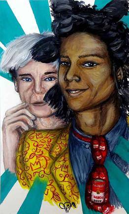 Le duo Warhol / Basquiat sur papier d'art