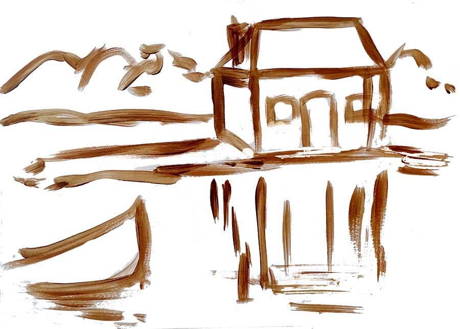 peindre l'eau maison