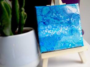 Acheter un mini tableau abstrait sur toile