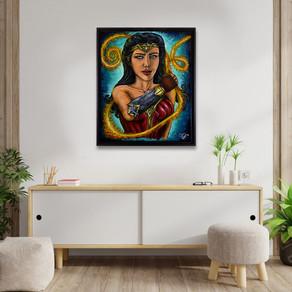 Power of Hestia, peinture de Wonder Woman