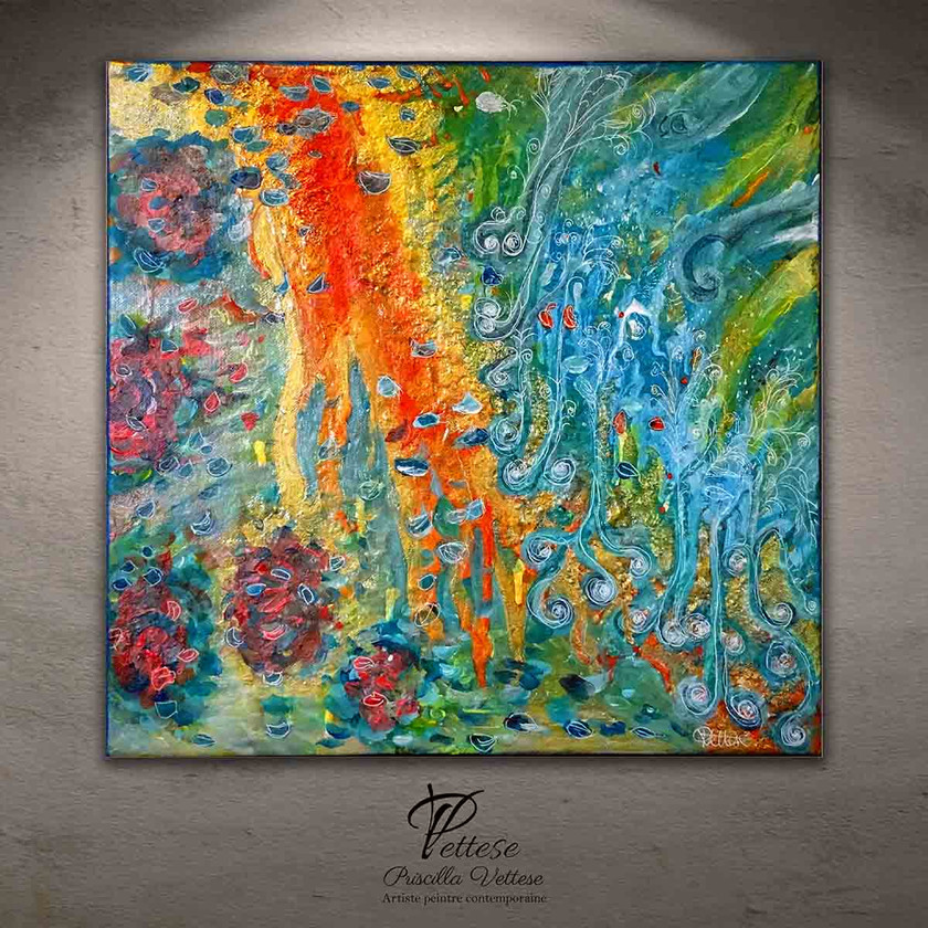 Peinture abstraite colorée