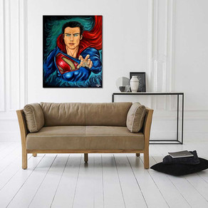 Power of Krypton, peinture super héros