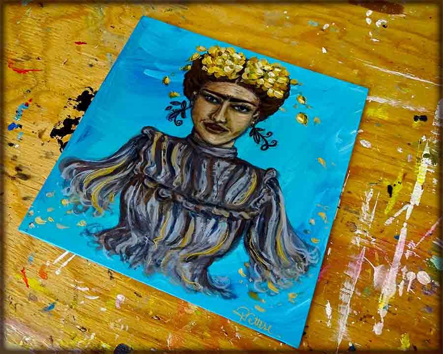 peinture pop frida kahlo