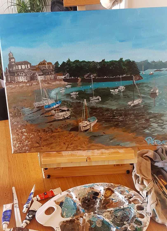 marine painting boats
