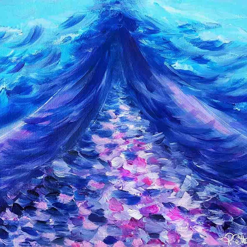 violet blue painting