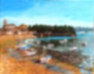 peinture paysage port saint malo