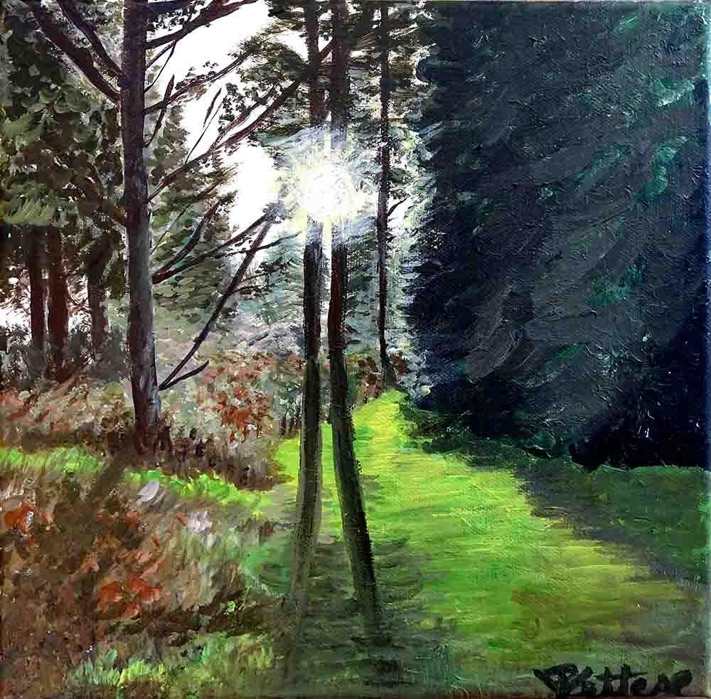 paysage vert peinture