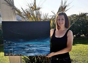 Immersion dans l'univers nature avec les paysages de l'artiste peintre Audrey Chal