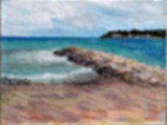 Tableau peinture bord de mer