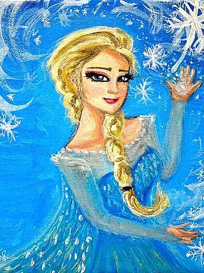 Tableau Elsa Reine des neiges