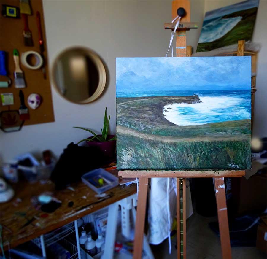 peinture marine chevalet